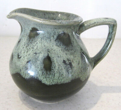 Gorgeous Vintage Fosters Milk Jug Green Cornish Pottery Tableware Cornwall