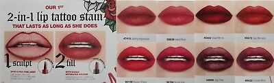 NEW AVON 2 in 1 LIP TATTOO LIPSTICK LINER STAIN LONG LASTING STAYING ...