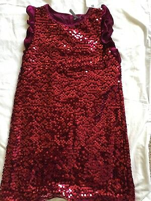 Girls Next Red Sequin Dress Age 9 New Party Celebration BNWT