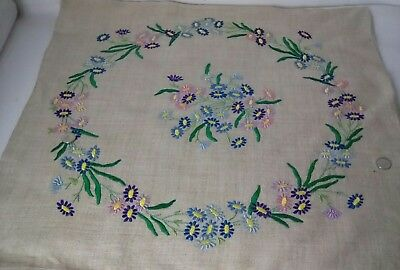 Vintage Hand Embroidered 1950s Cushion Cover