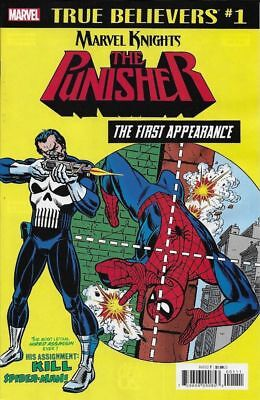 True Believers Punisher First Appearance #1 Marvel Nm First Print 2018