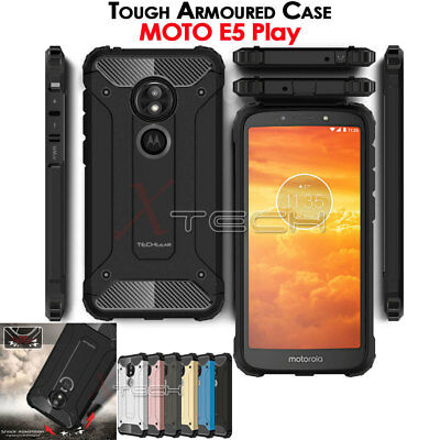 TOUGH ARMOURED Shock Proof Hard Protective Case Cover for Motorola Moto E5 Play