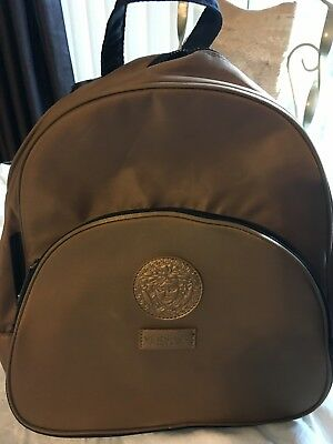880aa91ab4 VERSACE Parfums Backpack Brown and Gold Medusa Head Bookbag Bag Pre Owned