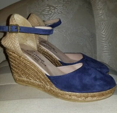 44056ac02d01 Gaimo Espadrilles Obi Ankle Strap Wedge Heel Shoes Women s 10 Anthropologie
