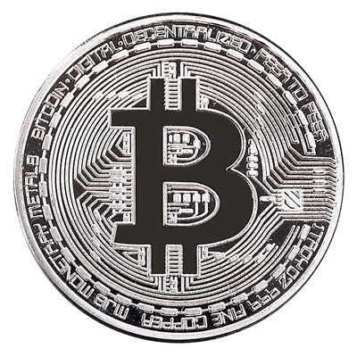 Silver plated Bitcoin Physical Crypto currency Case bit coin fine .999 Plata new