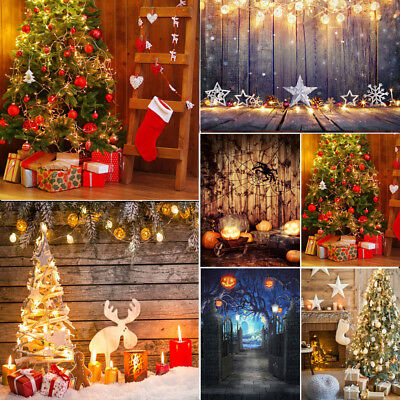 2018 Merry Christmas Cloth Photo Backdrops Xmas Photography Background Kid Props