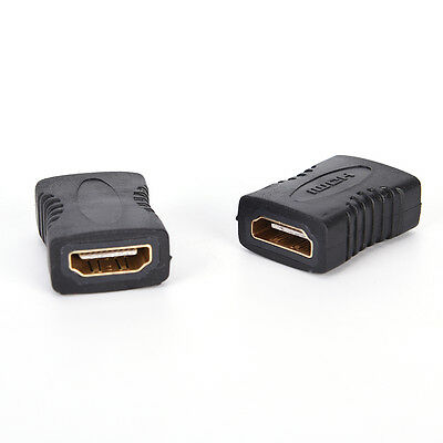 2PCS HDMI Female to Female Coupler Extender Adapter Connector for HDTV HDCP Nice
