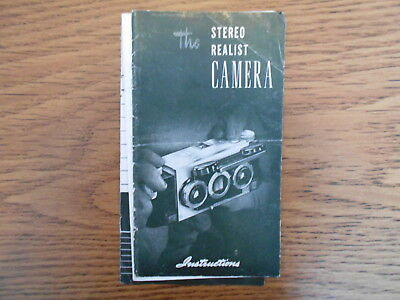 """Vintage """" The Stereo Realist Camera """" Instruction Book / Owner's Manual"""