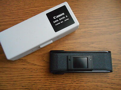 Case for Canon Data Back A and Canon AE-1 Replacement Film Door / Back Cover