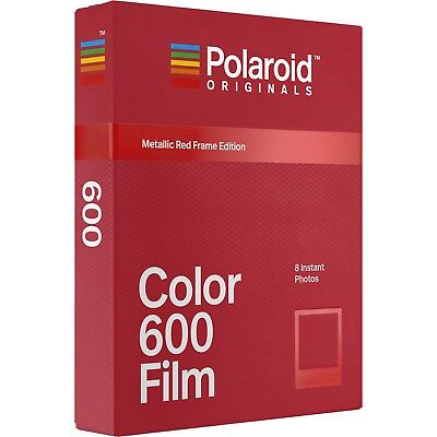 Polaroid Originals 4858 Color 600 & i-Type Instant Film (Metallic Red Frame)