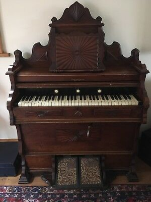 Old Peddle Organ Keyboard Piano