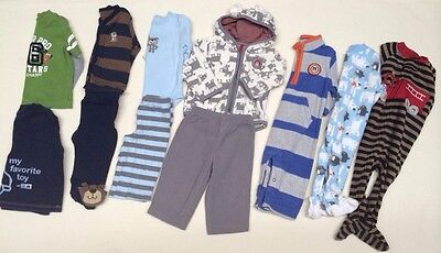 fe778e684 LOT OF TWO Carters Footed Pajamas Boys 18 Months -  2.00