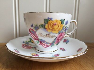 Royal Vale Pretty Collectable Vintage Mother Cup & Saucer