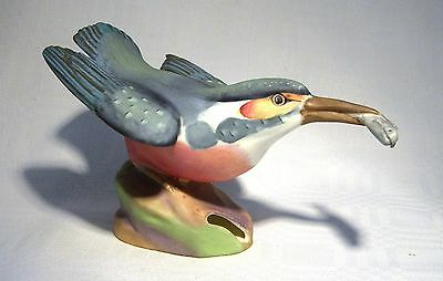 Royal Worcester Bird Figure Group Kingfisher 3235