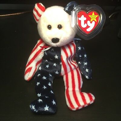 Mint Condition Authentic TY Beanie Babies Spangle the Bear 1999 with tag error