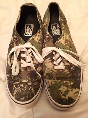 8c79f729a41984 VANS X STAR Wars Authentic Boba Fett Camo Size 9 Sneakers -  30.00 ...