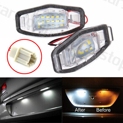 2x LED License Plate Light White Canbus Direct for Acura TSX TL MDX Civic Accord