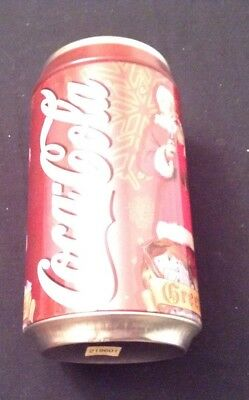 Coca Cola Metal Large Bank Numbered Collectible With Santa 2002