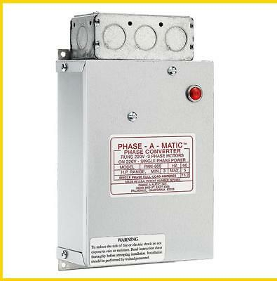 Pam-600 -  3-5 Hp - 220 Vac - Phase-A-Matic Phase Converter