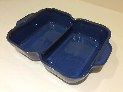 Denby Imperial Blue, divided serving dish, excellent used condition