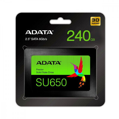 "New - ADATA SU650 240GB 3D-NAND 2.5"" SATA III Internal Solid State Drive- No Tax"