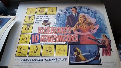 Bluebeard's 10 Honeymoons Poster Rare Numbered George Sanders Corinne Calvet