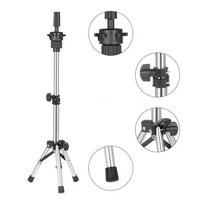 Adjust Hairdressing Tripod Stand Salon Hair Praticing Head Mannequin Stand O6T4