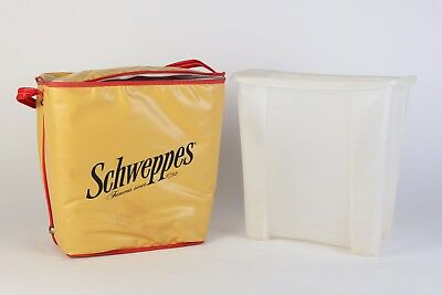 Vintage Cooler Lunch Box Schweppes Advertisement Outdoor Picnic Collectible