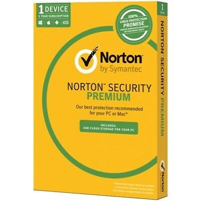 Norton Security Premium 2018 2019 One year One Device Fast Email Delivery