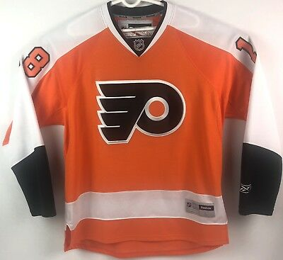 huge selection of ef1ee 84090 REEBOK PHILADELPHIA FLYERS Jersey Mike Richards #18 NHL Sweater Adult L  Orange