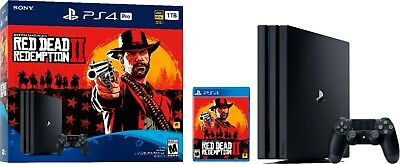 PlayStation 4 Pro 1TB Console - Red Dead Redemption 2 Bundle NEW