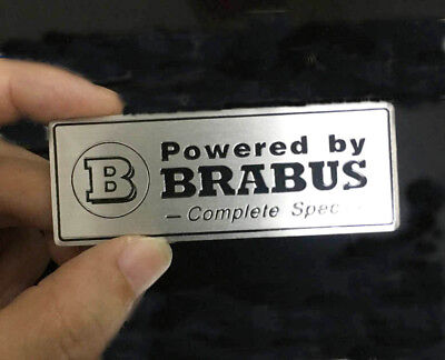 3D Alu Powered By BRABUS Emblem For Auto Car Badge Sticker AMG