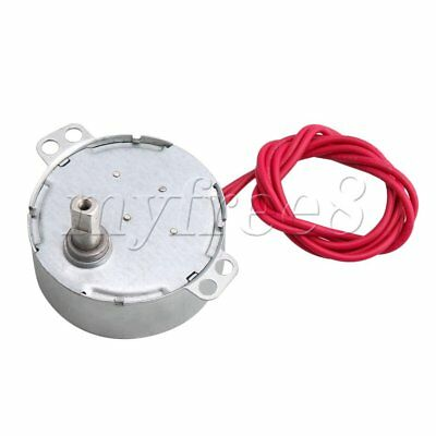 Turntable Synchron Motor AC 5V 0.8-1RPM 4W CCW/CW Flat Shank for Christmas Tree