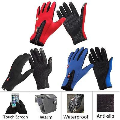 Winter&autumn Unisex Windproof Touch Screen Sports Glove Bikes Motorcycle #!