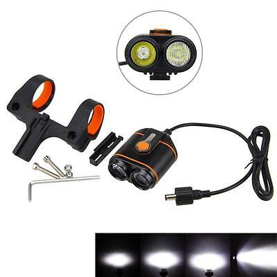 8000LM XML 2 x T6 LED 4 Modes Bicycle Lamp Bike Light Headlight Cycling Torch #!