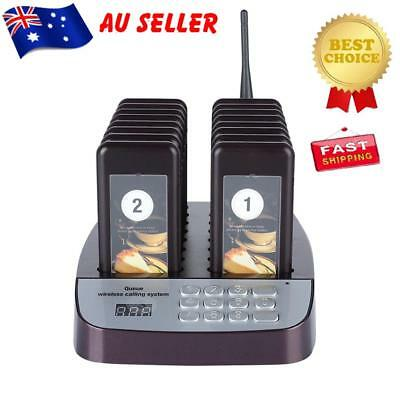 16Pcs Restaurant Coaster Pager Guest Call Wireless Paging Queuing Calling System