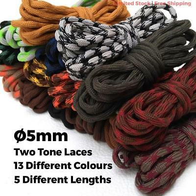 Bootlace Polyester Shoelaces Round Shoe Boots Lace Sneakers Hiking Sports 180cm