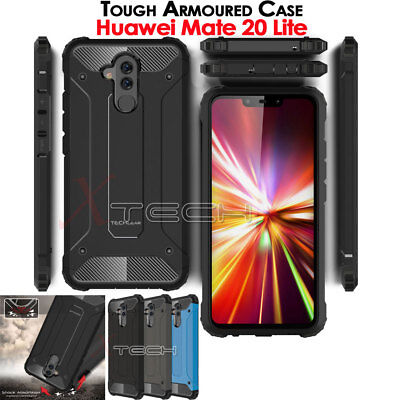TOUGH ARMOURED Shock Proof Hard Protective Case Cover for Huawei Mate 20 Lite