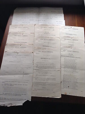Exam papers Royal Military Academy Woolwich & school reports Glenalmond 1893-94