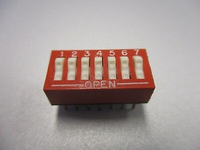 DIP Switch, 7 Position PC Mount DIP Switch (NOS, New Old Stock)(QTY 5 ea)D24