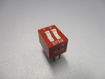 DIP Switch, 2 Position PC Mount DIP Switch (NOS, New Old Stock)(QTY 5 ea)D24