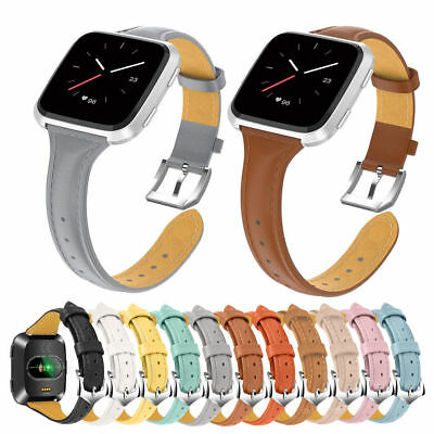 2018Genuine Leather Replacement Strap Watch Wrist Band For Fitbit Versa Bracelet