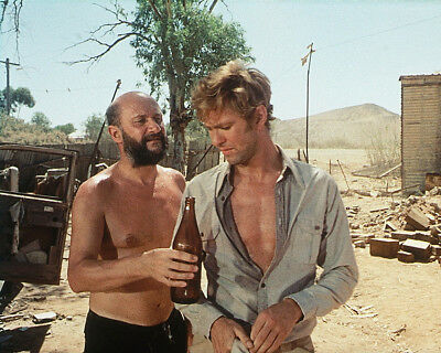 Wake in Fright Donald Pleasence Gary Bond barechested with beer 8X10 Photo
