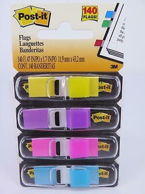 3M Post-It Mini Flags Assorted BRIGHT COLOURS 140Pk 683-4AB