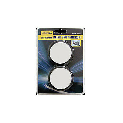 Adjustable Circular Blind Spot Mirror Large Size 50mm - Pack of 2