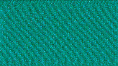 50 metre roll of Berisfords Double Satin Ribbon - 10mm Jade 68  - Clearance