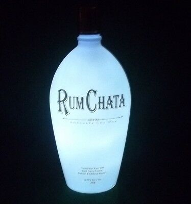 Rum Chata Liquor Display Bottle with LED Lights - New!