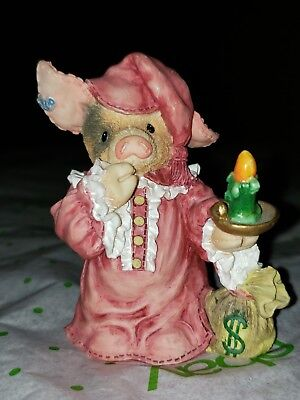 Enesco 1995 TLP This Little Piggy Boar Humbug Pig Christmas Holiday