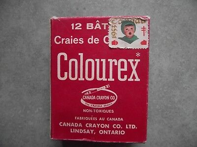 Vintage 1953 Colourex Chalk Box - CANADA CRAYON CO. Lindsay, ONT.