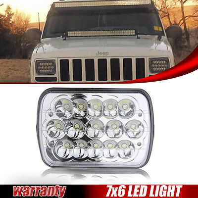 5x7 LED Headlight Hi/Lo Beam Left or Right For Jeep Wrangler Cherokee XJ YJ Duty